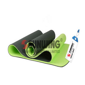 High Quality Printed Rounded Corner PVC Yoga Mat pictures & photos