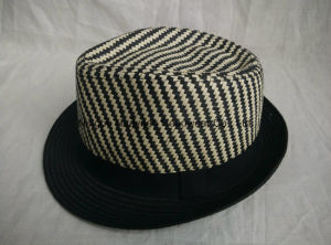 Mixed Color Sewn Braid Fedora Straw Hat pictures & photos