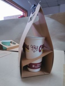Coffee Holder Takeaway Coffee Cup Paper Holder Box pictures & photos