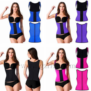Women Latex Rubber Waist Training Body Shaper Cincher Underbust Corset pictures & photos