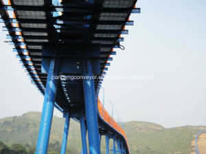 Curved Pipe Belt Conveyor System for Cement, Mining etc pictures & photos
