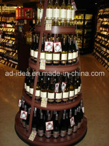 Four Layers Round Rack Stand/ Exhibition for Wine pictures & photos