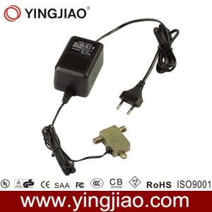 15W AC DC Plug in CATV Power Adapter with CE pictures & photos