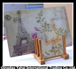 Set of Glass Chopping Board and Glass Coaster pictures & photos