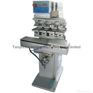 TM-S4 Ink Tray Plane and Round 4-Color Pad Printing Machine with Shuttle pictures & photos