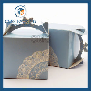 Factory Customized Cake Box with Paper Handle (CMG-cake box-013) pictures & photos