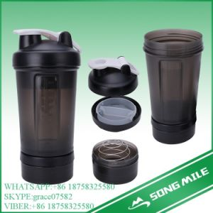 500ml Plastic Three Layers Shaker Bottle for Water pictures & photos