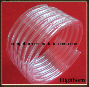 Clear Fused Coil Silica Quartz Glass Tube in 7coins pictures & photos