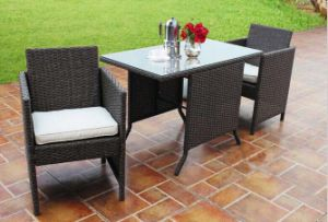 Outdoor Rattan Furniture Garden Patio Leisure Dining Chair Fortwo
