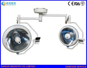 Hospital Halogen Double Dome Ceiling Shadowless Operating Surgical Light pictures & photos
