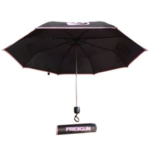 Three Folding Manual Open Windproof Advertising Umbrella with Logo Printing