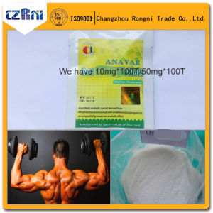 Winstrol Cycle Muscle Building Steroids Powder Green and White Pills Anavar pictures & photos