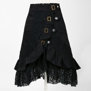 china drop ship wholesale in stock steampunk skirts womens punk