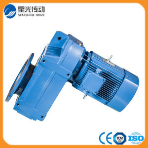 Horizontal Shaft Helical 90 Degree Right Angle Reduction Gearbox pictures & photos