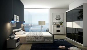 Modern High Glossy Bedroom Set (HF-EY0331) pictures & photos