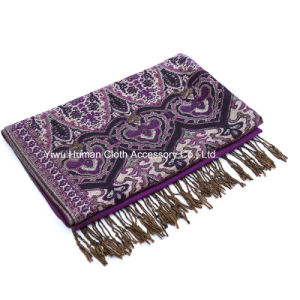 Fashion Jacquard Lightweight Woven Long Scarf pictures & photos