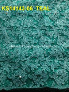 African Cord Lace Embroidery Lace Wine Less Indian Embroidery Lace pictures & photos