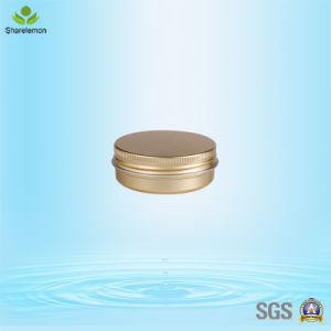30g Aluminum Cosmetic Empty Golden Jar for Whitening Face Cream pictures & photos