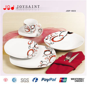 12PCS Square Shape Ceramic Dinner Set pictures & photos