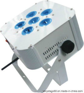 6*10W RGBW 4 in 1 LED Wireless Battery LED PAR Stage Light/LED Flat PAR Can pictures & photos