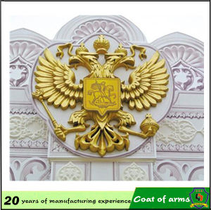 10 Years Experience Huahui Factory Customize Eagle Shape Metal Emblem pictures & photos