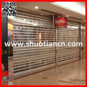 Crystal Rolling Shutter Door Plastic Roll up Door Clear (ST-003) pictures & photos