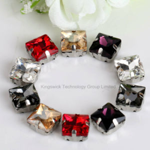 High Quality Sew on Flatback Acrylic Rhinestone with Metal Claws pictures & photos