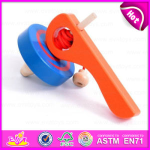 Hot Sale Item Interesting Wooden Small Gyro/Top/Spinning Top/Peg-Top Toys for Kids W01b017 pictures & photos