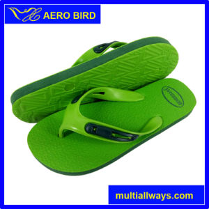 Male PE Slipper Sandal Shoes with Two Layer Color Sole pictures & photos