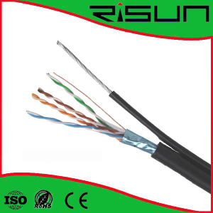 FTP Cat5e LAN Cable with Messenger Outdoor Use pictures & photos