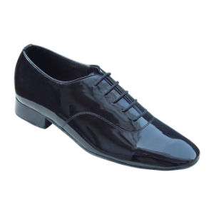 Black Patent Leather Men′s Ballroom/Tango Dance Shoes pictures & photos
