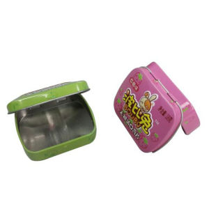 Metal Samll Higed Chewing Gum Candy Box