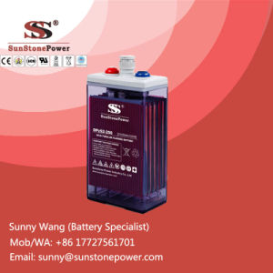Renewable Energy Storage Battery 2V 200ah Flooded OPzS Batteries pictures & photos