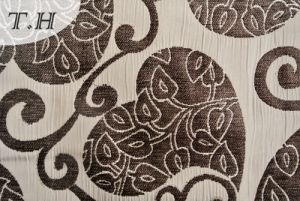 Jacquard Sofa Fabric with Love Pattern and Blend Cotton Design pictures & photos