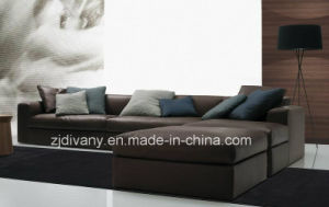 Divany Furniture Leather Sofa Fabric Sofa D-63 E (R) +E (L) pictures & photos