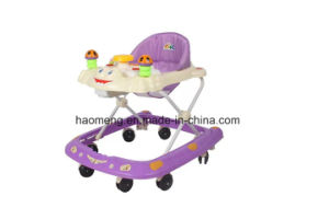 Plastic Round Baby Walkers with 8 Wheels Adjustable Baby Walker pictures & photos