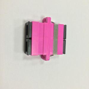 Sc Om4 Simplex Magenta Housing Fiber Optic Adapter pictures & photos
