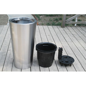 Stainless Steel Self-Watering Planter (FO-9066) pictures & photos