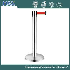 "Stainless Steel Stanchion 36"" Height Crowd Control Barrier with Retractable Belt pictures & photos"