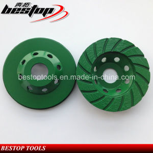 """4"""" Silver Welded Turbo Grinding Cup Wheel with 22.23mm Connection pictures & photos"""