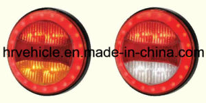 Round Shape LEDs Stop Turn Tail Light for Trucks pictures & photos