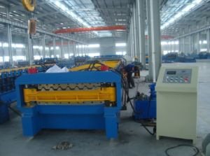 Galvanized Steel Thickness 0.3-0.8mm Fully Automatic Double Layer Cold Roll Forming Machine pictures & photos