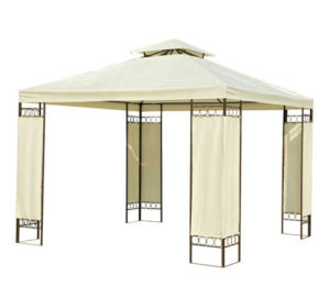 3X3m Beige Gazebo with Steel Frame pictures & photos