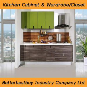 Professional Kitchen Cabinet with PVC Membrane pictures & photos