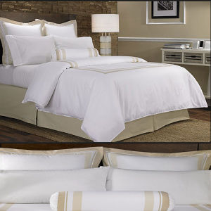 400tc Satin The Linden Gray Duvet Set Modern Duvet Covers and Duvet Sets (DPFB8084) pictures & photos