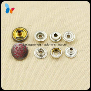 Engraved Logo Pattern Decoration Metal Snap Button for Fashion Clothes pictures & photos
