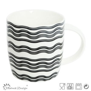 12oz Ceramic Mug with Waves Decal Design pictures & photos