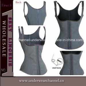 Black 9 Steel Women Shaper Rubber Vest Corset (TA2010) pictures & photos