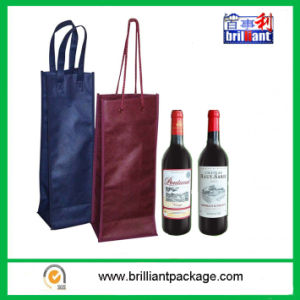 Reusable Nonwoven Wine Bottle Shopping Bag with Handle Bag pictures & photos