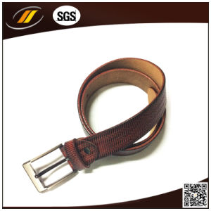 Men′s Cool Pin Buckle Genuine Leather Belt (HJ3002) pictures & photos